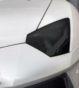 Lamborghini Aventador Smoked TINT Headlight Blackout Lens Pre Cut Decal Overlay