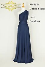 Long Infinity Convertible Multiway Formal Bridesmaid Dress, Handmade One Size