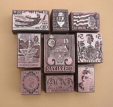 """POSTAGE STAMPS OF THE WORLD"" (Set 2) Printing Blocks."