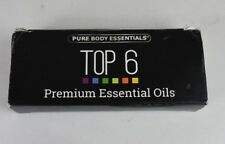 Pure Body Natural Premium Essential Oils Collection Sampler of 6 Essential Oils