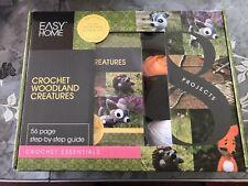 Easy Home Crochet kit Woodland Creatures for beginners Make Hedgehog Deer & Fox