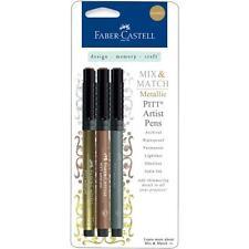 Faber-Castell Mix & Match Metallic Pitt Artist Pens - Silver, Gold & Copper READ