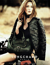 Publicité Advertising 028  2011   sac Longchamp & Kate Moss