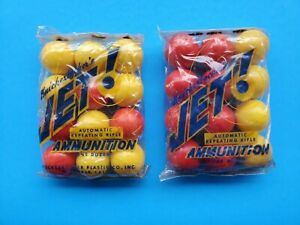 Vintage 2 Knickerbocker Jet Automatic Toy Repeating Rifle Plastic Balls unopened