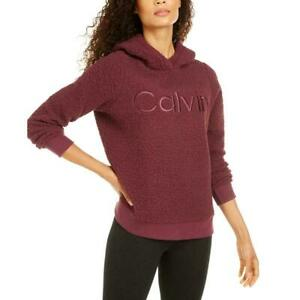 Calvin Klein Performance Women's Fleece Hoodie Sweatshirt Pullover Purple 2XL