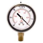 HFS(R) 2' Oil Filled Vacuum Pressure Gauge - Ss/Br 1/4' Npt Lower Mount -30Hg/0