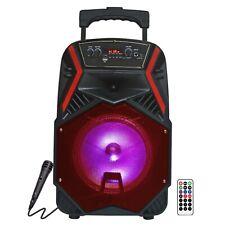 """Fully Amplified Wireless 1600 Watts Peak Power 8"""" Speaker - ANGEL8 Red"""