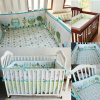 Set 4Pcs Baby Infant Cot Crib Bumper Safety Protector Toddler Nursery  UK! AU