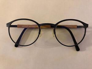 Malt 6184 Brille (Dunkelblau/Holzbügel)