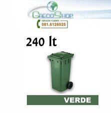 Cassonetto/Contenitore/Bidone per raccolta rifiuti uso esterno 240 litri verde