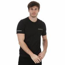 Men's Calvin Klein Short Sleeve Regular Fit Crew Neck T-Shirt in Black