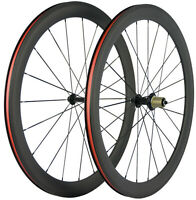 700C 25mm U Shape Clincher Carbon Wheels 50mm Carbon Wheelset Racing Cycling