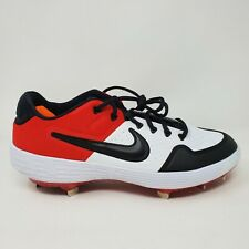 Nike Alpha Huarache Elite 2 Low Metal Baseball Cleats Red Black SZ 10