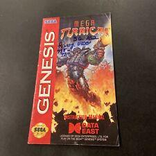 mega turrican genesis Manual