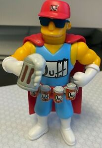 Playmates The Simpsons Duffman Action Figure MINT Fresh Out Of The Package