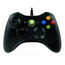 MICROSOFT XBOX 360 Wired Controller Nero per PC Windows-NUOVO di zecca!