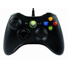 Microsoft Xbox 360 Wired Controller Negro Para Windows PC-a Estrenar!