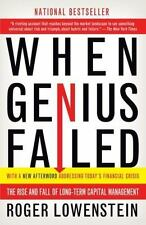 When Genius Failed : The Rise and Fall of Long-Term Capital Management by Roger