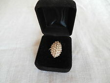 Sterling silver  oval ball ring, size 6.5