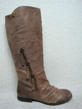 NINE WEST Vintage America - POMPER - Women's Brown Leather Boots - Size 10.5 M