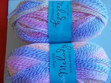 King Cole Melody DK baby yarn, Eaton Mess, lot of 2 (320 yd ea)