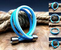 Segeltau Armband NEU türkis blau Handarbeit Damen Herren Magnetverschluß Surfer