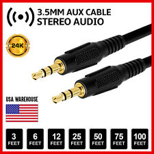 AUX Headphone 3.5mm Cable Male to Male Car Stereo Audio Cord iPhone Samsung lot