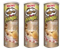 3 x New Pringles Mushroom & Cream Flavor Potato Chips 165g 5.8oz