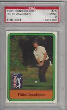 1981 Donruss Golf #26 Peter Jacobsen PSA 9 MINT 16441188