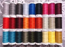27 BIG different colors GUTERMANN 100% polyester sew-all thread 274 yard Spools