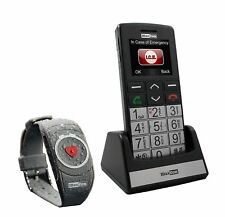 Senioren-Handy mit Notruf- Armbandsender Maxcom MM715BB