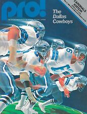 Dallas Cowboys vs St. Louis Cardinals NFL Football Game Program NOS Nov. 2 1980
