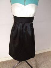 Monsoon Black/cream Detachable Strap Evening Dress - Size 12