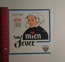 Aufkleber/Sticker: 450 Jahre Stadt mien Jever (24111684)