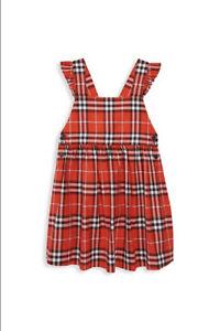 New Authentic Burberry Livia Nova Plaid Check Trademark Girls Kids Dress 10 $395