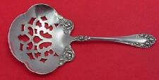 Rose By Wallace Sterling Silver Nut Spoon Pierced 4 1/2""