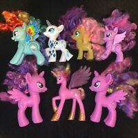My Little Pony G4 Lot of 7 Large Styling Brushables Ponies Twilight Rarity
