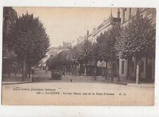 Peronne Rue Thiers Vue De La Place d'Armes France 1919 Postcard 975a