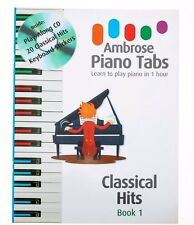 Easy Classical Piano Keyboard Music Hits Adult +Children Beginners Play Along CD