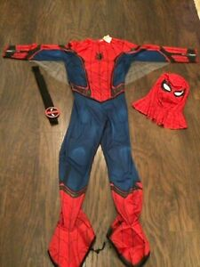 Men's Spider-Man Suit with mask and belt size Large