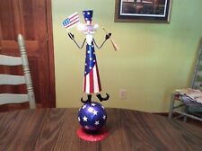 Glittery 20� tall tabletop uncle sam