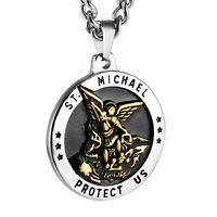 Saint Michael Archangel St. Catholic Patron Metal Medal Pendant Chain Necklace