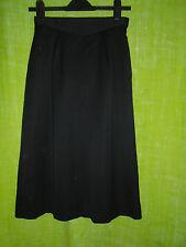 Vintage Jaeger Black A-Line Wool Skirt Size 10