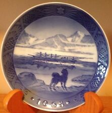 Vintage Christmas 1968 The Last Umiak Kai Lange Blue Royal Copenhagen