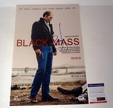 JOHNNY DEPP SIGNED AUTOGRAPH BLACK MASS MOVIE POSTER PSA/DNA COA