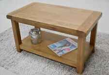 Dorset Oak Coffee Table With Lower Shelf / Living Room / Rustic Solid Wood