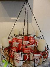2er Set Kaffeebecher Kaffeetasse Keramik Tassen mit Herz ♥ in rot und weiß NEU!!
