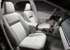 2012 - 2013 Toyota Camry LE leather Interior Seat Covers - Vin# U - Ivory