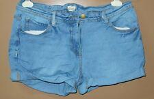 S13:New F&F  Women Denim Distressed Shorts-S-31