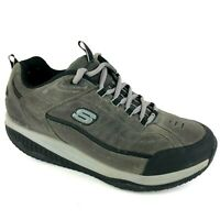 Skechers Shape Ups XT 52000 Men's Toning Shoes 10.5 Charcoal Leather Sneakers
